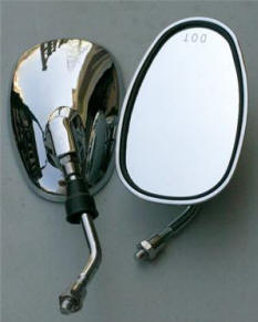 Universal Chrome Scooter Mirrors