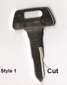 Chinese Scooter Key Blank Style 1