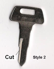 Chinese Scooter Key Blank style 2